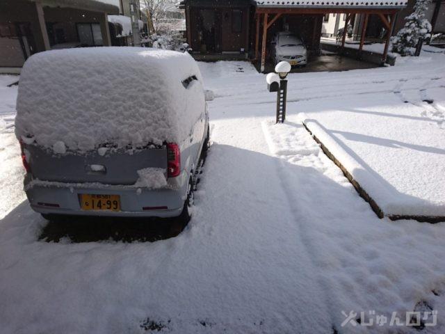 平地で初雪