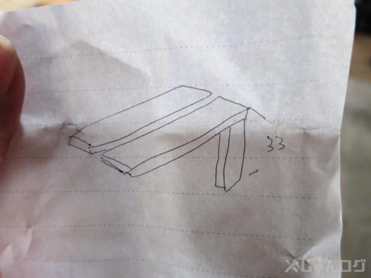 台の作成 寸法