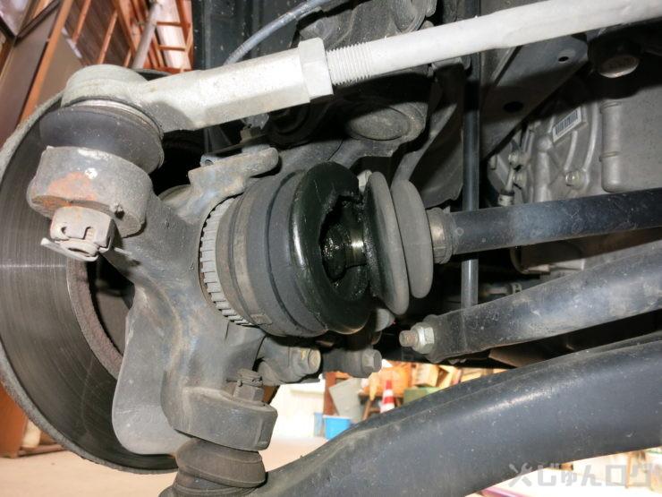 MH23Sドライブシャフトブーツ交換1