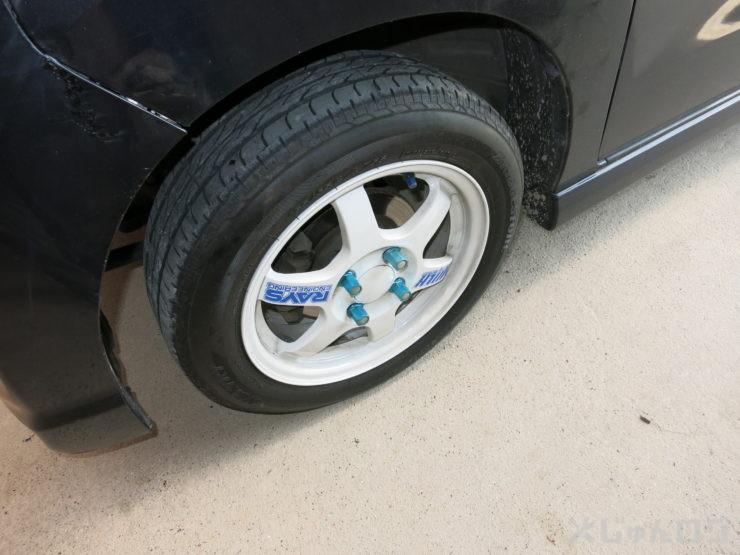 タイヤも付けて無事終了