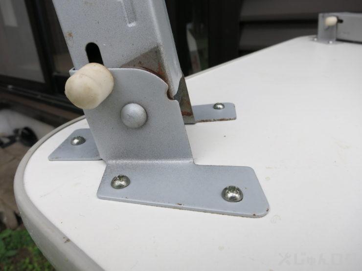 ミニテーブルの脚の構造出したところ