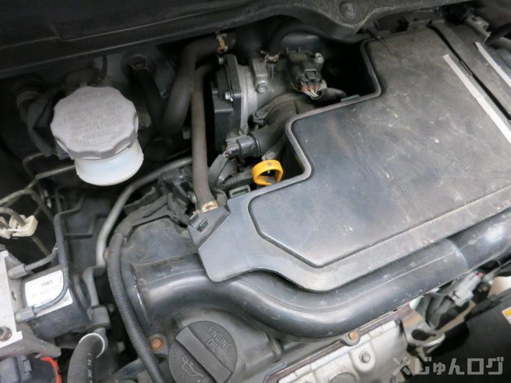 ワゴンRのエンジンルーム