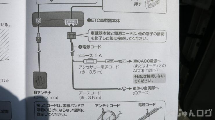 ETCの取説の配線図